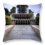 Pineapple Fountain Charleston Sc Throw Pillow