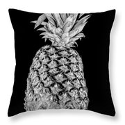 Pineapple Isolated On Black Throw Pillow