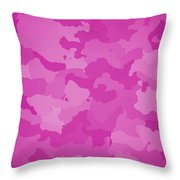 Pink Camo  Throw Pillow