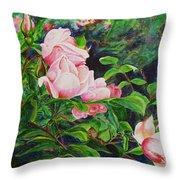 Pink Cascade Throw Pillow