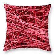 Pink Fiberglass Insulation, Sem Throw Pillow