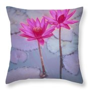 Pink Lily Blossom Throw Pillow
