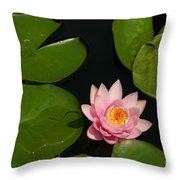 Pink Lotus Waterlily Throw Pillow