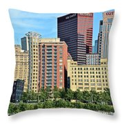 Pittsburgh Building Cluster Throw Pillow