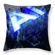 Pixel Artificial Intelligence Throw Pillow