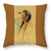 Plains Warrior Throw Pillow