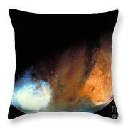 Planet Mars Throw Pillow