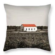 Plantation Church Throw Pillow