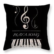 Play A Song Throw Pillow