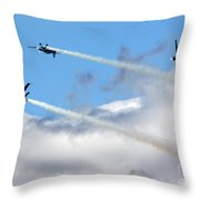 Playing In The Clouds Throw Pillow