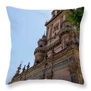 Plaza De Espana - Seville - Spain  Throw Pillow