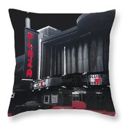 Plaza Theater Us Mexico Border Town Nuevo Laredo Nuevo Leon Mexico Collage 1977-2012 Throw Pillow