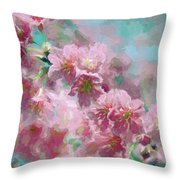 Plum Blossom - Bring On Spring Series Throw Pillow