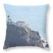 Point Bonita Light House Throw Pillow