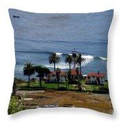 Point Loma Lighthouse 2 Throw Pillow