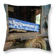 Pol Pot Mobile Khmer Rouge Radio Station Anlong Veng Cambodia Throw Pillow