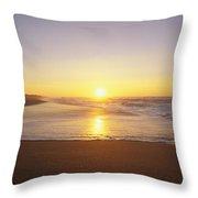 Polihale Beach Throw Pillow