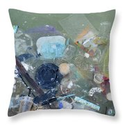 Polluted Dirty Water Throw Pillow