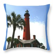 Ponce Lighthouse Throw Pillow