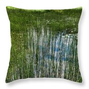 Pond Grasses Throw Pillow