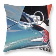 1933 Pontiac Eight Hood Ornament Throw Pillow