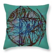 Pop Art - New Tropical Fish Poster Throw Pillow