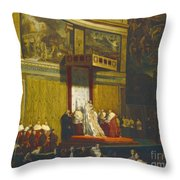 Pope Pius Vii In The Sistine Chapel Throw Pillow