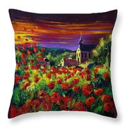 Poppies In Foy Throw Pillow