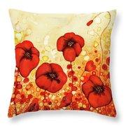 Poppin' Poppies #1 Throw Pillow