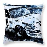 Porsche Carrera Rsr, 1973 - 03 Throw Pillow