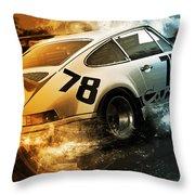 Porsche Carrera Rsr, 1973 - 20 Throw Pillow
