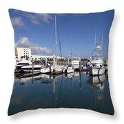 Port Canaveral Florida Usa Throw Pillow