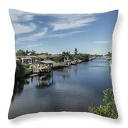 Port Charlotte Ackerman Waterway From Ohara Throw Pillow