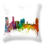 Port Elizabeth South Africa Skyline Throw Pillow