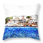 Port Of Brindisi Throw Pillow