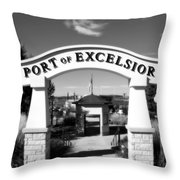 Port Of Excelsior Throw Pillow