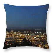 Portland At Dusk Throw Pillow