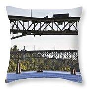 Portland Port104 Throw Pillow