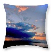 Portobello Clouds Throw Pillow