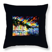 Portofino Harbor - Italy Throw Pillow