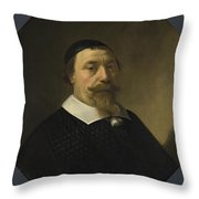 Portrait Of A Bearded Man Throw Pillow