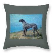 Portrait Of A Great Dane Throw Pillow
