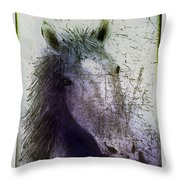 Portrait Of A Horse Throw Pillow