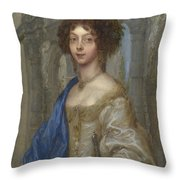 Portrait Of A Woman As Saint Agnes Throw Pillow
