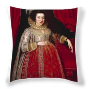 Portrait Of A Woman In Red Throw Pillow