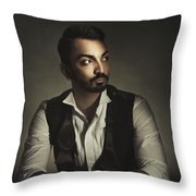 Portrait Of A Young Man Throw Pillow