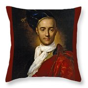 Portrait Of A Young Nobleman Throw Pillow