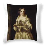Portrait Of Anne Page Throw Pillow