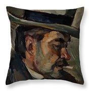 Portrait Of Artist Karnakoski Throw Pillow