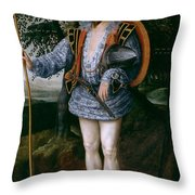 Portrait Of Captain Thomas Lee Throw Pillow